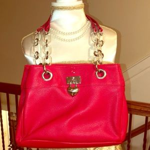 Red Leather LULU Guinness Handbag
